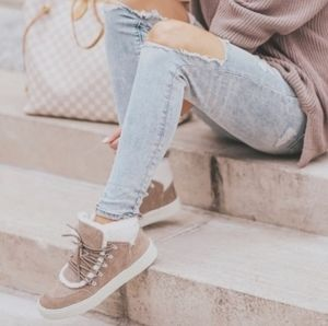 💎NWOB Marc Fisher Taupe Suede Sneaker Boots